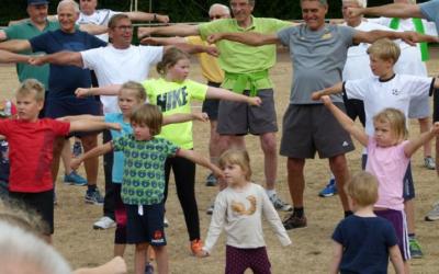 Gemeinsamer Sport mit den Enkeln beim MTV Rheinwacht