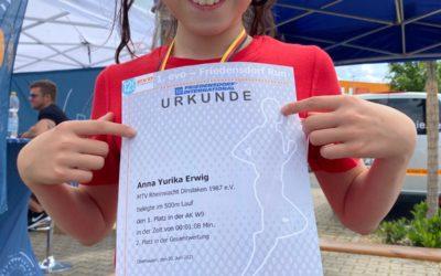 2. Platz beim EVO Friedensdorf RUN