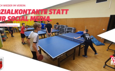 Tischtennisabteilung nimmt an der COMEBACK-Kampagne des DOSB teil